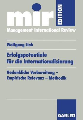Link | Erfolgspotentiale für die Internationalisierung | Buch | sack.de