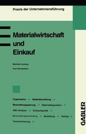 Lensing | Materialwirtschaft und Einkauf | Buch | sack.de