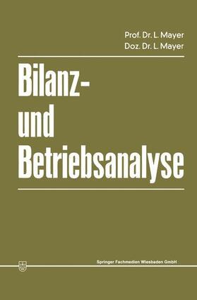 Mayer   Bilanz- und Betriebsanalyse   Buch   sack.de