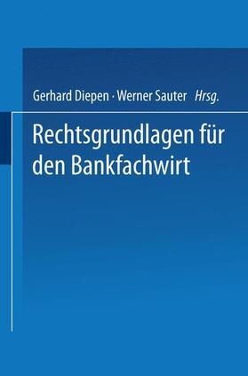 Diepen   Rechtsgrundlagen für den Bankfachwirt   Buch   sack.de