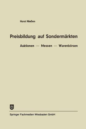 Niessen | Preisbildung auf Sondermärkten | Buch | sack.de