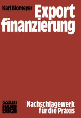 Blomeyer | Exportfinanzierung | Buch | sack.de