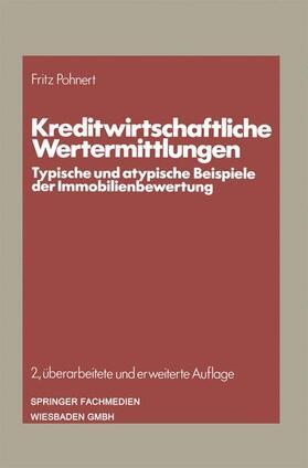 Pohnert | Kreditwirtschaftliche Wertermittlungen | Buch | sack.de