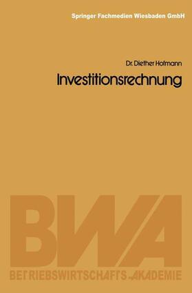 Hofmann | Investitionsrechnung | Buch | sack.de