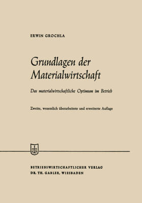Grochla   Grundlagen der Materialwirtschaft   Buch   sack.de