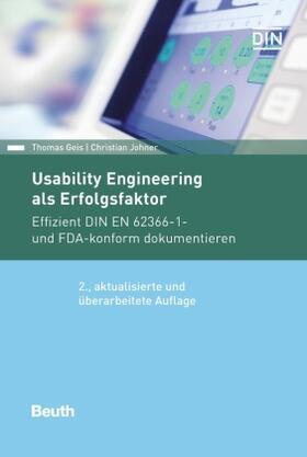 Geis / Johner / Johner | Usability Engineering als Erfolgsfaktor | Buch | sack.de