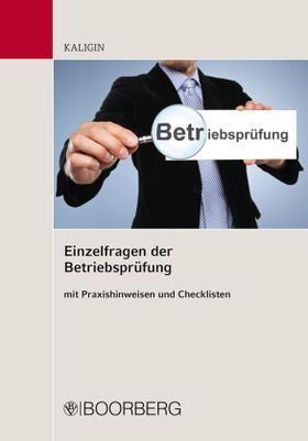 Kaligin | Einzelfragen der Betriebsprüfung | Buch | sack.de