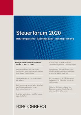 Förster / Ott   Steuerforum 2020; .   Buch   sack.de