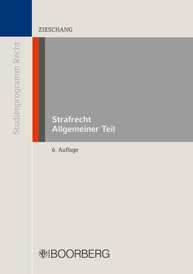 Zieschang | Strafrecht Allgemeiner Teil; . | Buch | sack.de