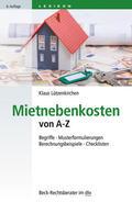 Lützenkirchen |  Mietnebenkosten von A - Z | Buch |  Sack Fachmedien