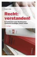 Loos |  Recht: verstanden! | Buch |  Sack Fachmedien