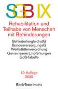 SGB IX Rehabilitation und Teilhabe von Menschen mit Behinderungen | Buch |  Sack Fachmedien
