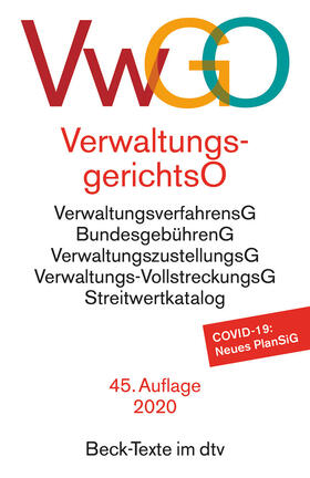 Verwaltungsgerichtsordnung, Verwaltungsverfahrensgesetz | Buch | sack.de
