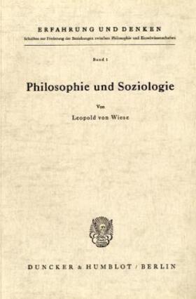 Wiese | Philosophie und Soziologie. | Buch | Sack Fachmedien
