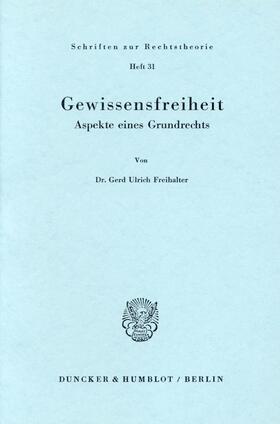 Freihalter | Gewissensfreiheit. | Buch | sack.de