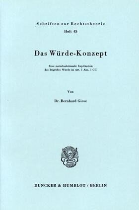Giese | Das Würde-Konzept. | Buch | sack.de
