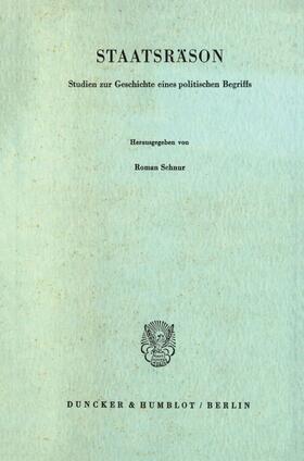 Schnur | Staatsräson. | Buch | sack.de