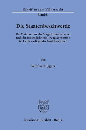 Eggers | Die Staatenbeschwerde. | Buch | sack.de
