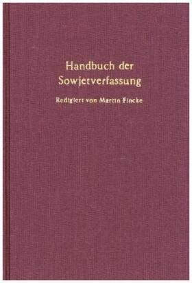 Handbuch der Sowjetverfassung. | Buch | sack.de