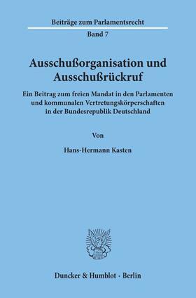 Kasten   Ausschußorganisation und Ausschußrückruf.   Buch   sack.de