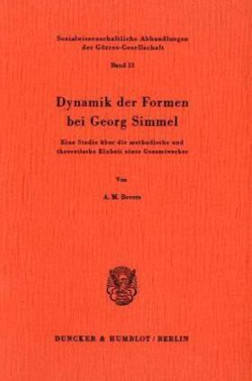 Bevers | Dynamik der Formen bei Georg Simmel. | Buch | sack.de