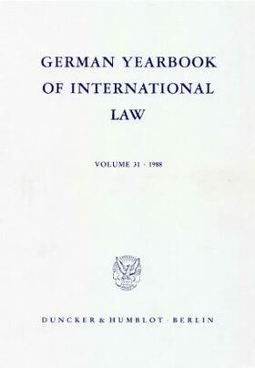 Delbrück / Hofmann / Zimmermann | German Yearbook of International Law / Jahrbuch für Internationales Recht. | Buch | sack.de