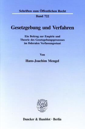 Mengel | Gesetzgebung und Verfahren. | Buch | sack.de