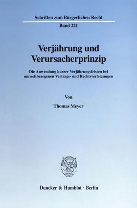 Meyer | Verjährung und Verursacherprinzip. | Buch | sack.de