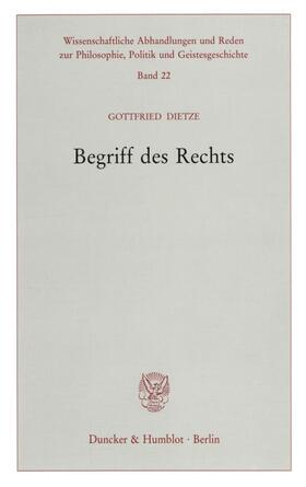 Dietze | Begriff des Rechts. | Buch | sack.de