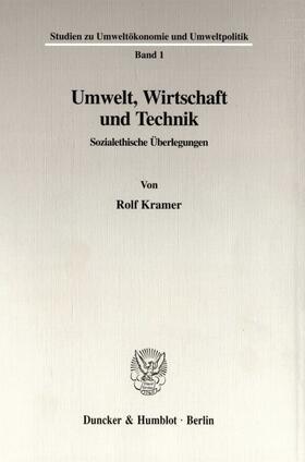 Kramer | Umwelt, Wirtschaft und Technik. | Buch | sack.de