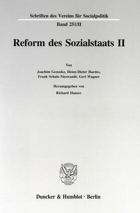Hauser | Reform des Sozialstaats II. | Buch | sack.de
