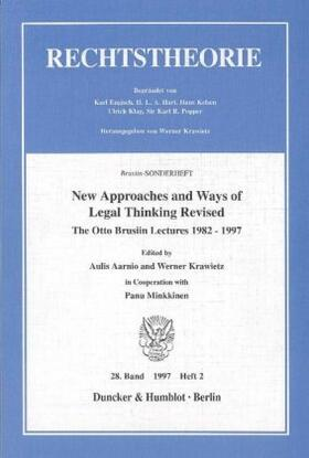 Aarnio / Krawietz | New Approaches and Ways of Legal Thinking Revised. | Buch | sack.de