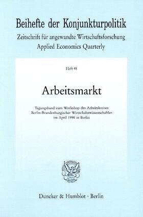 Arbeitsmarkt. | Buch | sack.de