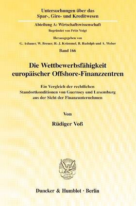 Voß | Die Wettbewerbsfähigkeit europäischer Offshore-Finanzzentren | Buch | sack.de