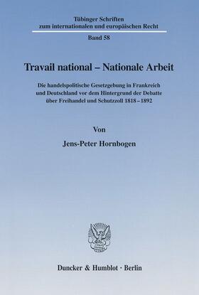 Hornbogen | Travail national - Nationale Arbeit. | Buch | sack.de
