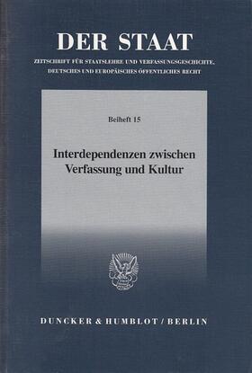 Becker | Interdependenzen zwischen Verfassung und Kultur. | Buch | sack.de