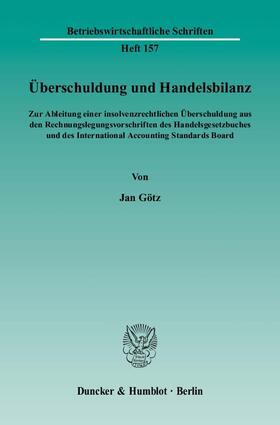 Götz | Überschuldung und Handelsbilanz. | Buch | sack.de