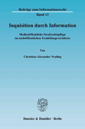 Neuling | Inquisition durch Information. | Buch | sack.de