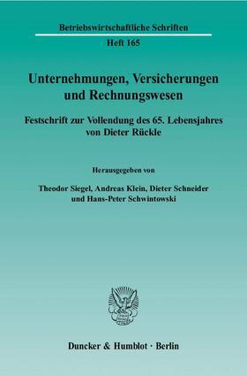 Siegel / Klein / Schneider | Unternehmungen, Versicherungen und Rechnungswesen | Buch | sack.de