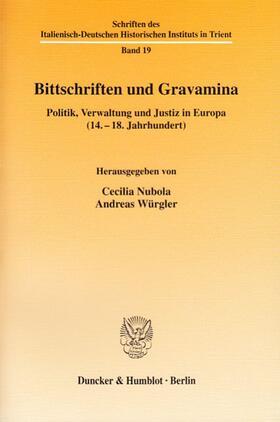 Nubola / Würgler | Bittschriften und Gravamina. | Buch | sack.de