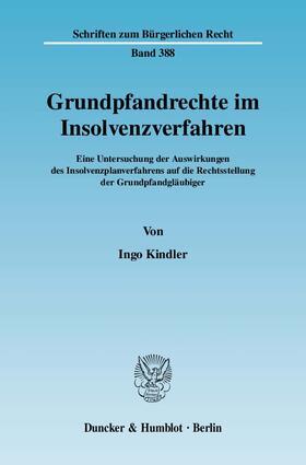Kindler | Grundpfandrechte im Insolvenzverfahren | Buch | sack.de