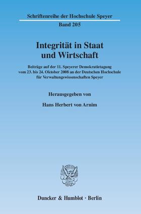 Arnim | Integrität in Staat und Wirtschaft. | Buch | sack.de