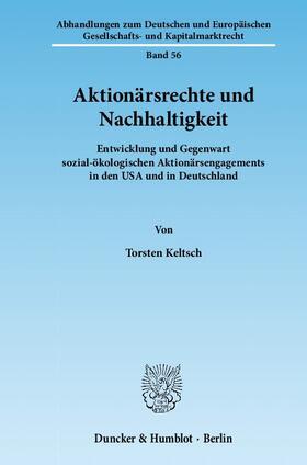 Keltsch | Aktionärsrechte und Nachhaltigkeit. | Buch | sack.de
