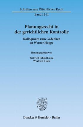 Erbguth / Kluth | Planungsrecht in der gerichtlichen Kontrolle. | Buch | sack.de