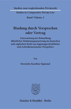 Sigmund   Bindung durch Versprechen oder Vertrag.   Buch   sack.de
