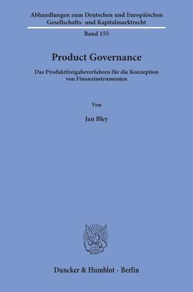 Bley   Product Governance.   Buch   sack.de