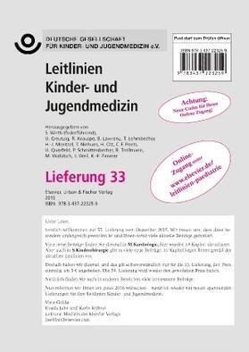 DGKJ Deutsche Gesellschaft für / Wirth / Creutzig | Leitlinien Kinder- und Jugendmedizin | Loseblattwerk | sack.de