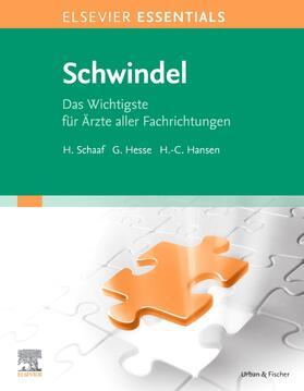 Schaaf / Hesse / Hansen | Elsevier Essentials Schwindel | Buch | sack.de