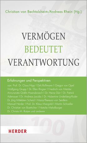 von Bechtolsheim / Rhein / von Bechtolsheim | Vermögen bedeutet Verantwortung | Buch | sack.de