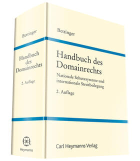 Bettinger   Handbuch des Domainrechts   Buch   Sack Fachmedien